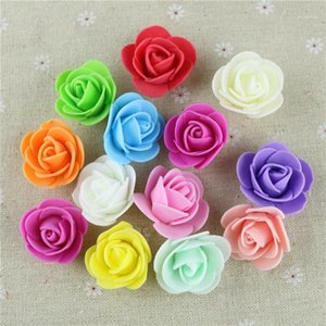 100pcs Mini Artificial Flowers For DIY Rose Bear Valentines Day Gift Artificial Rose Head Bear Mold Wedding Decoration1