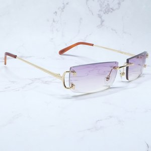 Prescription Sunglasses Rimless Sun Wire Glasses Shades Cheaper Women Eyewear Carter Rapper Men C Luxury Summer Metal Ugmfd Spkli
