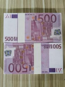 Euro Perakende ve toptan Rol Yapma Euro 10 20 50 100 200 500 prop para kopya banknot sahte film parası oyun 100pcs / 056 paketi