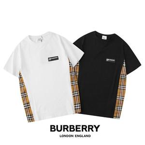 Ummer Paris para hombre ropa de lujo taladro caliente camiseta diagonal letra impresión t shirt moda r tshirts casu; 36