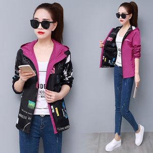 Moda 2020 Spring Autumn Chaquetas Para Mujer Two Side Wear Slim Fit Casual Style Jackets Women Zipper Hooded Women Clothes