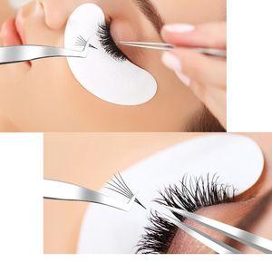 2020 Extension Tweezer Profession Grafting eye lash tweezers Straight Tip Stainless Steel Lash Clip Anti-static Lash Tools
