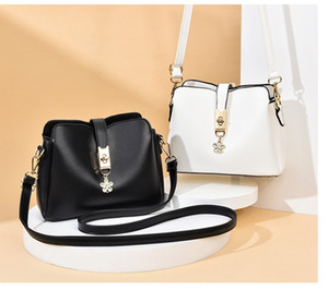 PU Three-layer small bag 2020 new fashion female bag soft leather bucket bag ladies shoulder messenger TOTES