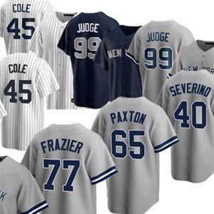 Benutzerdefinierte 45 Gerrit Cole 99 Aaron Richter Jersey 2 Derek Jetergary Sanchez DJ Lemahieu Gleyber Torres Stanton Chapman Urshela Baseball Trikots
