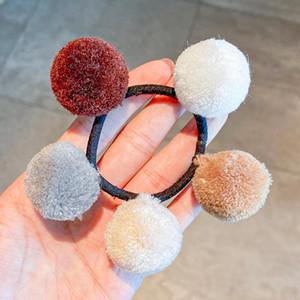 Lindo Pompom Ball Bandas Elásticas Playas Scrunchies Para Mujeres Niñas Pom Pom Ponytail Porta Caucho Goma Accesorios Para El Pelo Adornos H Sqcblb