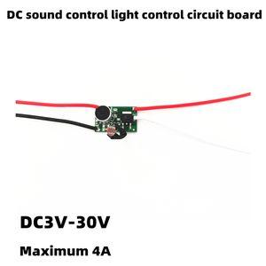 4A high-power voice control light sensor switch 5V12V24V voice control light sensor circuit board control module