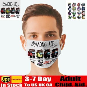 Among Us Games Printed Recycling Face Masks For Adults Cycling Outdoor Anti Dust Windproof Face Mask Washable Reusable Comfort Unisex Mask
