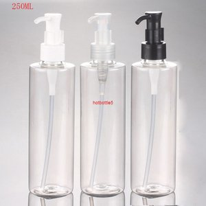(30pcs lot)250ml empty transparent oil pump bottle Cosmetic packaging 250cc Cleansing Oil packagingBottlegood quality