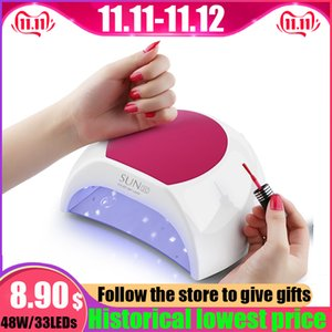 YUJIA 48W LED Light For Nail With UV Lamp For Gel Nail Polish Polishing Nail Dryer For Manicure 10s  30s  60s+90s Low Heat Mode Q1123