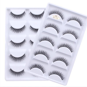 5 Pairs Multipack 3D Mink Lashes False Eyelashes Handmade Wispy Fluffy Fake Lash Natural Eye Makeup Tools Faux Eye Lashes H13