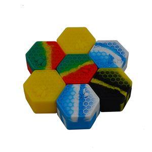 2020 Silicone Non-stick Jars Dab Container Honeybee Silicon Case For Vaporizer Oil Solid FDA Food Grade Silicone Box Wax Container