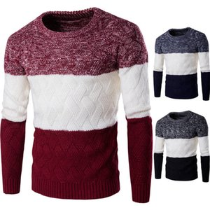 Hot Sale Men Winter Thick Knitted Long Sleeve Pullover Woolen Slim Sweater