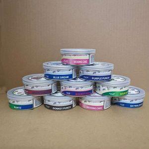 Pressitin Bans Smart Bud Alvors Sticker 66 * 27 мм, 73 * 23 мм Cali Prespitin Tuna Tin Can Can 3.5G Сухой хериттин Четкий отсреживание крышки с крышкой