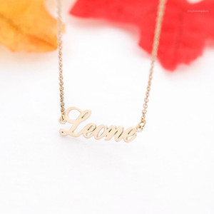 Pendant Necklaces Fashion Any Name Necklace Women Choker Stainless Steel Chain Custom Letter Fascinating Handmade Jewelry Bijuteria1