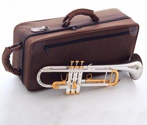 LT180S-72 BB Super Trumpet Instrumentos Superficie Golden Plateado Brass BB TROMETA Instrumento musical profesional