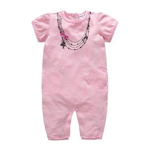 Honeyzone Baby Boy Girl Romper One Piece 100% Cotton Short Sleeve Summer Girls Clothes 0-24m Newborn Jumpsuit