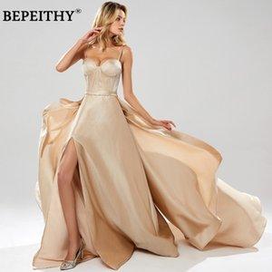 Bepeithy Robe de Soiree Spaghetti Red Blads Bletitter Вечерние платья с течет с высоким разрешением Sexy Prom Party Party 2020 New LJ201123