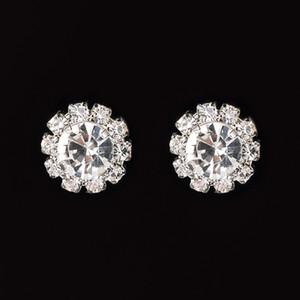 Pendientes de cristal de Rhinestone redondo brillante Zircon Studding Pendiente Hot-Selling Stud Pendiente Mujer Fiesta Regalo de boda Envío gratis 281 J2