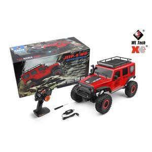 WLToys 104311 1/10 2.4G 4WD RC Car Rock Rock Crawler Véhicule d'escalade W / LED Light RTR modèle Haute vitesse Camions hors route Jouet 201218