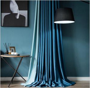 HIVER Nouveau Rideau Tissu Nordic Light Poisson Poisson Poisson Os Couleur Couleur Chambre Chambre à coucher Salon Rideaux Shading Rideaux peut être personnalisé