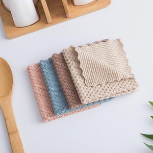 Hot Sale Anti-grease Wiping Rags Kitchen Efficient Super Absorbent Microfiber Cleaning Cloth Home Washing Dish Kitchen Cleaning Towel