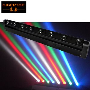 Hi-Quality 8x10W RGBW LED Beam Bar Par Shayer Light Cree LED Beam Bar Moving Head Light DMX 512,9 / 38Channel DJ Show Tiptop