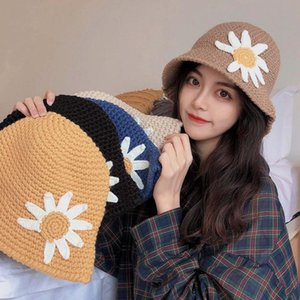 Big Daisy Women's Winter Soft Wool Hand Knit Bucket Hat Cap Beanie