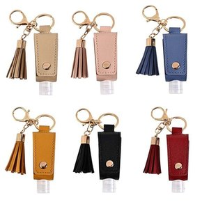 with Hand Sanitizer Tassel Keychain 30ml Portable Empty Reusable Bottle Pu Leather Key Chains Holder Carriers