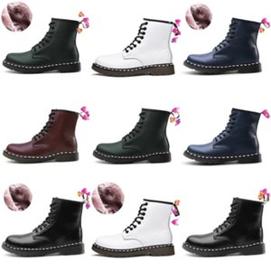 Hot Sale-Fashion Women'S Winter Black White High-Ed Sexy Ankle Martin Boots Par Wedding Booties#6683222
