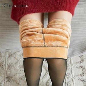 Taille haute moulante Collant Femmes chaud Collants femmes peau-hiver Transparent Velvet Stockings2020 New c1117