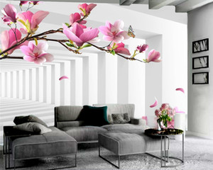 3d Flower Wallpaper Three-dimensional Extended Space Flower Wallpaper Custom 3D Photo Wallpaper Home Decor