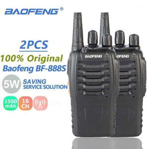 2Pcs Baofeng BF-888S Walkie Talkie 5W UHF SMA-F Radio Transmitter BF888S BF 888S 888S Comunicador Transceiver Ham Radio Station1