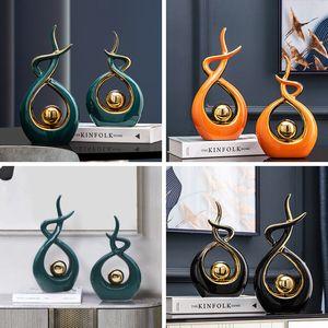 New Home Decoration Accessories for Living Room Christmas Decorations Home Decore Ceramic Desk Decoration Souvenirs Figurines