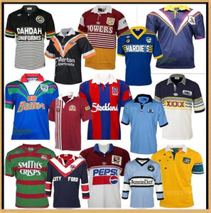 Warriors Knights Retro Rugby Jersey Penrith Panthers Australie Sydney Roosters St George Illawarra Melbourne Storms Tempêtes Queensland Cowboys