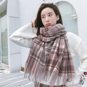 Signore Imitazione Cashmere Sciarpa Nuovo colorato plaid moda caldo sciarpa termale da uomo donne autunno inverno sciarpe allungate DDA