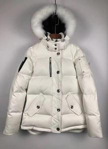 Kış Erkek Tasarımcı Parkas Aşağı Palto Moda Sıcak Kanada Çift Aşağı Ceketler Kürk Hood Kadın Parkas
