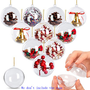 Clear Ornaments Round Plastic Ball Ornaments Fillable Ornaments Ball For Craft Christmas Decorations 5cm 8cm HH9-3696