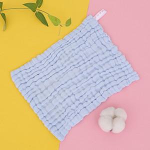Toalla de bebé algodón liso cuadrado recién nacido pañuelo de cara toalla infantil toalla toalla toalla niños baberos 70 O2