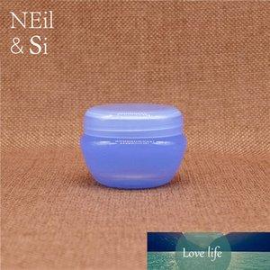 Blu plastica Cosmetic Cream Mushroom Bottle Refillable Lotion Barattolo per il labbro del labbro del labbro del labbro del labbro contenitori dell ombretto Spedizione gratuita
