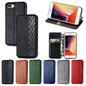 For iPhone7 8 Plus Phon Cases Made of TPU PU Leather Anti-slip Surface Magnetic Flip Bucklet Foldable Bracket (Model:7Plus 8Plus 7+ 8+)