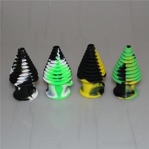 forma de torre Filtro Bong Bocal Silicone porta-voz de Bongo de vidro da tubulação de água Mouthpeace Dab Rigs silicone tubo de mão
