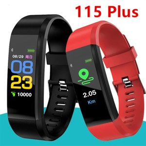 Color Screen ID115 Plus Smart Bracelet Fitness Tracker Pedometer Watch Band Real Heart Rate Blood Pressure Monitor Smart Wristband