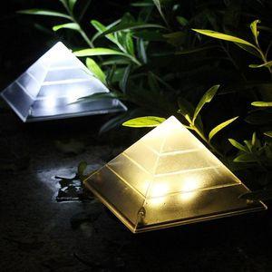 Creative Solar Lamp Pyramid Lawn lights Outdoor Garden Decoration Landscape Sunlight Yard Street Path Villa Walkway Driveway Lights