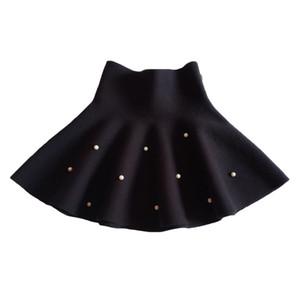Mode Prinzessin Tutu Rock für Kinder Schule Baby Mädchen Röcke Mini Falten Perlen Rock Die ganze Saison Kinder Kleidung 6m-14 Jahre Y1201