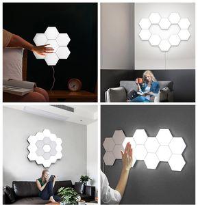 1 PCS Lampe Quantum Lampe LED Touch Modulaire Éclairage Sensible Éclairage Hexagonal Night Light Lampadaires Lampe murale Lumière hexagonale