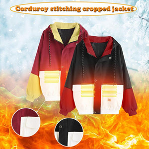 Women Long Sleeve Cardigans Sweater Corduroy Patchwork Oversize Jacket Windbreaker Coat Overcoat High Quality Female Streetwear