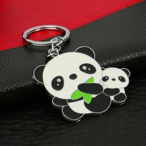 Creative giant panda key chain pendant Metal key pendant Chinese tourist souvenir features small gift panda ring
