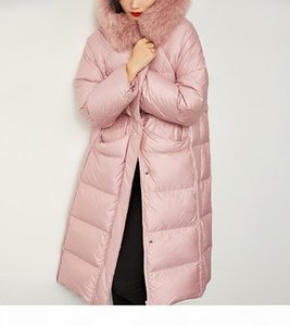 2020 fashion womens x-long down jackets winter warm down parkas Outdoor Windproof down Coat