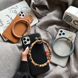 For iphone 11 11Pro Max case Luxury leopard circle ring leather case for iphone XR X XS Max SE 7 8 Plus girl case cover capa