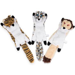 Köpek Kedi Giyotik Oyuncaklar Hiçbir Doldurma Kaplan Leopar Aslan Peluş Küçük Orta Köpekler için Peluş Çiğnemek Evcil Oyuncak Eğitim JK2012XB